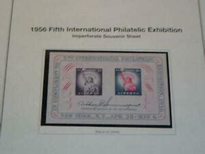 u s usa sts 1956 fifth international philatelic