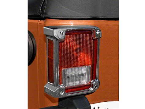 Jeep Jk Tail Light Cover by Rugged Ridge Jeep Wrangler Tail Light Covers Chrome