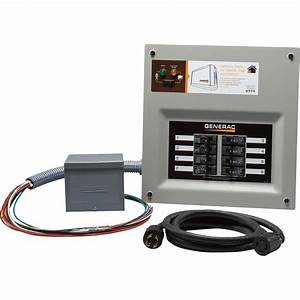 Generac Homelink Prewired Manual Transfer Switch Kit  U2014 30 Amps  8 Circuits  Resin Box  Model