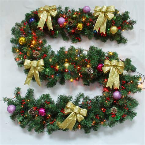 christmas decoration garland  lights christmas rattan