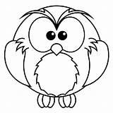 Owl Coloring Preschool Owls Snowy Coloringbay sketch template