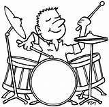 Coloring Drum Pages Playing Drummer Boy Drums Drawing Line Enjoy Sticks Play Dog Template Enjoys Chased Pdf Getdrawings sketch template