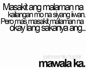 Quote About Love Hurts Tagalog images