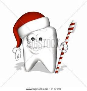 Tooth with Santa Hat