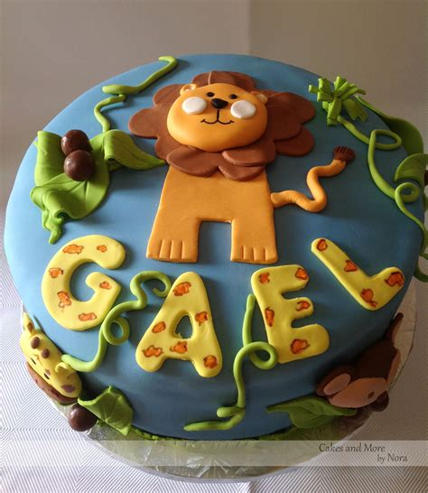 jungle themed baby shower cake cakes    nora