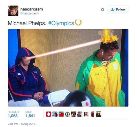 Michael Phelps Memes - michael phelps death glare is the internet s new greatest meme sfgate
