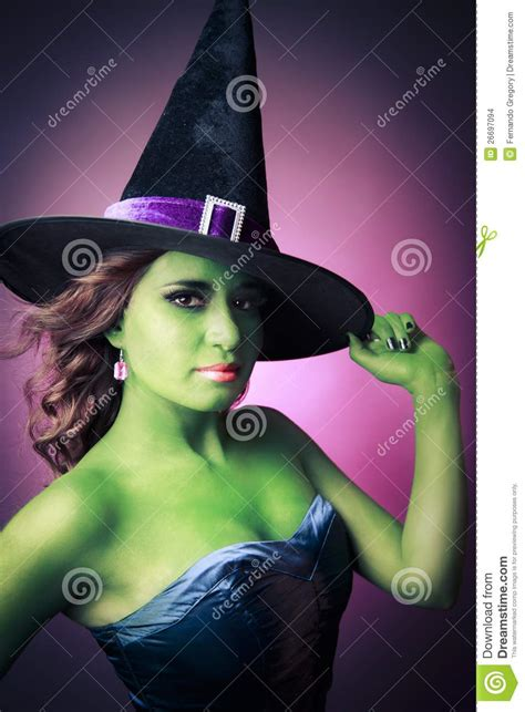 cute  sexy halloween witch stock images image