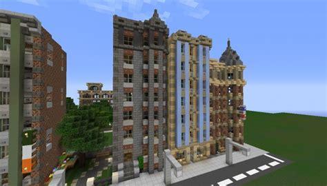 Street Block Full  Victorian Style Rowhouses Minecraft