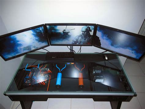 Amazing Liquid Cooled Computer Built Directly Into A Desk