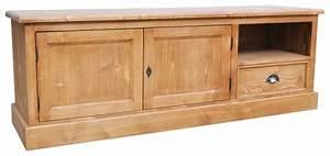 Grand Meuble Tv : acheter meuble tv 160cm pin massif ~ Teatrodelosmanantiales.com Idées de Décoration