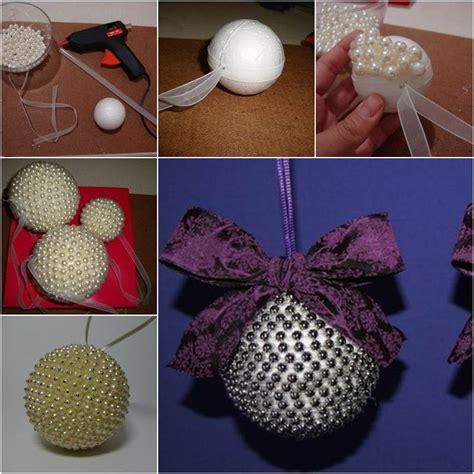 diy pearl beads ball christmas ornaments
