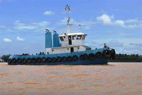 Tug Boat Malaysia by Tug Boat At Rejang River In Sarawak Of Malaysia Stock