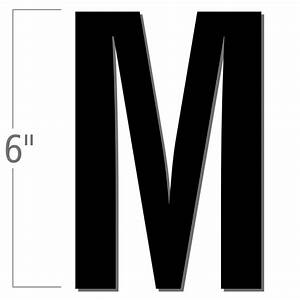 6 inch die cut magnetic letter m black sku nl mg 6 bk m With 6 inch magnetic letters