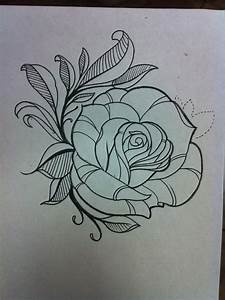 Image Gallery outline rose tattoo designs