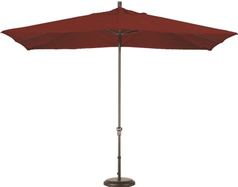 11 foot aluminum sunbrella aa rectangular patio umbrella