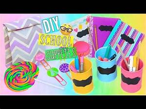 6 DIY Back To School Supplies Cute & Colorful | Tumblr ...