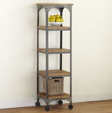 Wood Bathroom Etagere by Reclaimed Wood Metal Etagere Look 4 Less