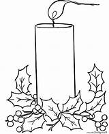 Candle Christmas Coloring Drawing Candles Printable Wind Night Template Sketch Blow Adult Eating Adults sketch template