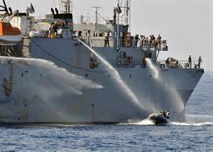 Us Navy Ships Fighting Fires