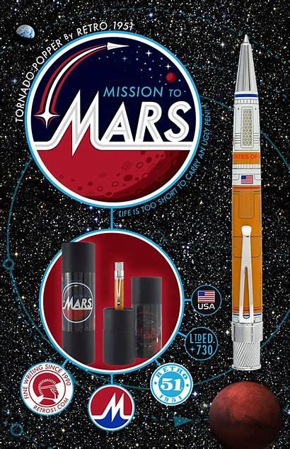 Mars Mission Pen Retro Tornado Popper Chalet