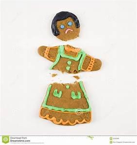 Broken Gingerbread Cookie. Royalty Free Stock Images ...
