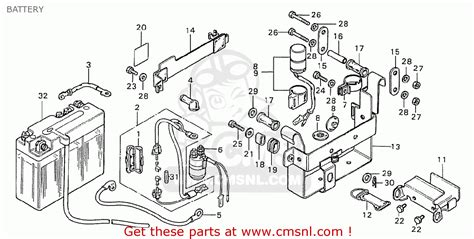 honda cd175 a5 battery schematic partsfiche