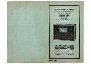 Taylor 45c Tube Tester Tube
