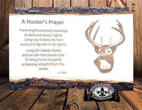 hunters prayer backwoods laser engraving
