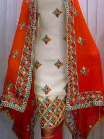 wedding chunni phulkari suit boutique designs