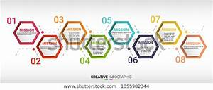 Infographics Timeline Template 8 Options Stepbusiness Stock Vector  Royalty Free  1055982344
