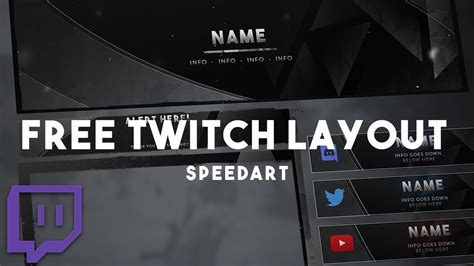 twitch overlay  layout design   twitch