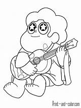 Steven Universe Coloring Pages Printable Guitar Music Quartz Info Books Adult Popular Agus sketch template