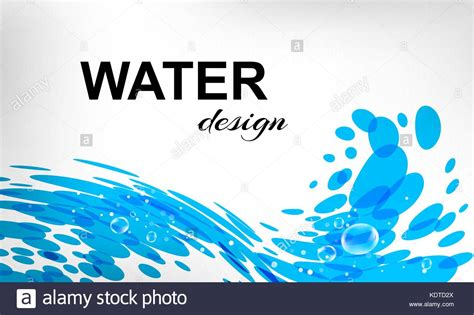 Water Design, Splash Wave, Business Card Stock Vector Art Quick Easy Business Card Hp Reader Software Amex Qualifications Top App For Your Windows 10 Plus Photo Of