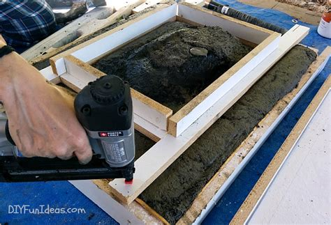 how to make a cement sink how to make a concrete countertop or vanity with integral
