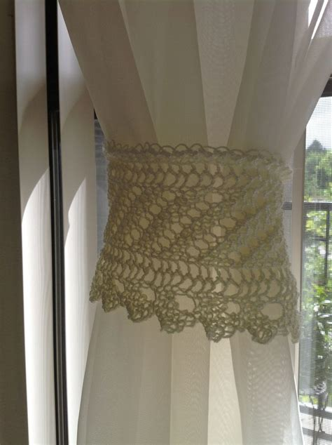 knit lace curtain tie back craft ideas