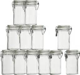 wedding registry for stores set of 12 mini oval spice herb jars with cl crate and