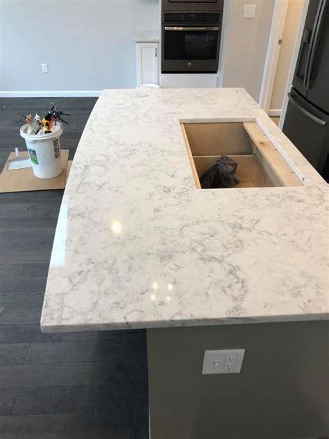 calacatta pearl quartz installation gallery granite