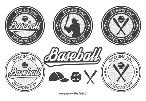 Free pennant banner vector download in ai, svg, eps and cdr. Baseball Opening Day Badges - Download Free Vector Art ...