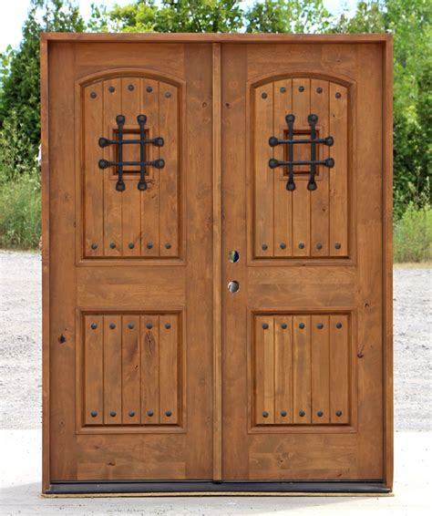 rustic exterior double doors  clearance