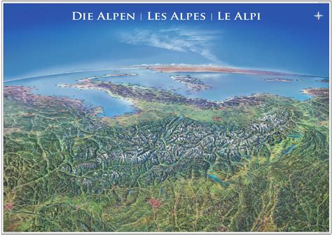 panorama karte alpen   cm deutschland landkarten