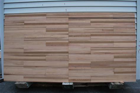 Make your own huge wood butcher block sliding doors with