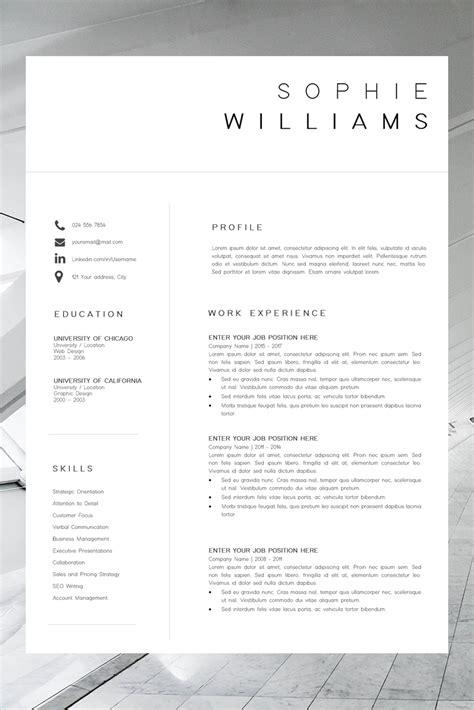 cv template resume template minimalist