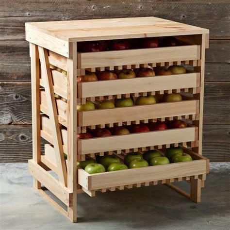 homestead  boise wood  drawer apple rack idea