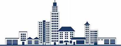 Building Commercial Clipart Skyline Estate Transparent Property