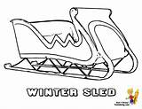 Coloring Winter Sled Pages Snow Sheet Hockey Sports Boys Colouring Cold Bone Yescoloring sketch template
