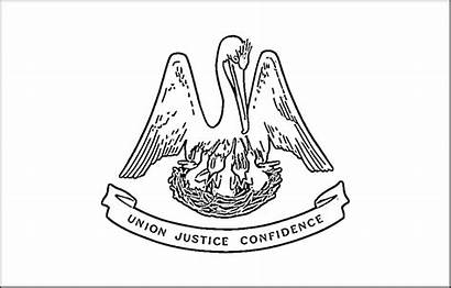 Louisiana Flag Coloring Pages Drawing State Flags