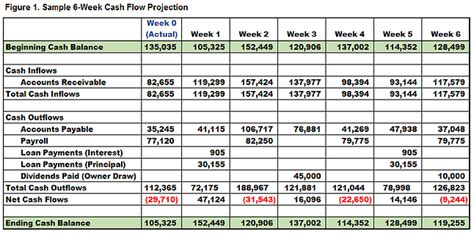 steps   cash flow projections