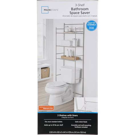 mainstays bathroom space saver assembly easy home bathroom space saver shelf