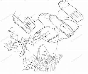 Polaris Atv 1999 Oem Parts Diagram For Front Cab A99ch50eb