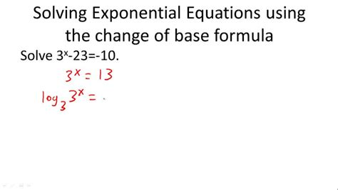 Solving Exponential Equations  Ck12 Foundation